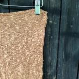 sciarpa loom seta cotone marrone dettaglio