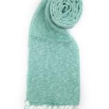 sciarpa loom seta cotone verde acqua