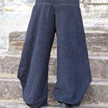 pantaloni velluto aladino nero retro def