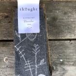 calze donna bambe e cotone bio grigio stampa lisca