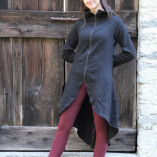 cappottino felpa cotone nero def