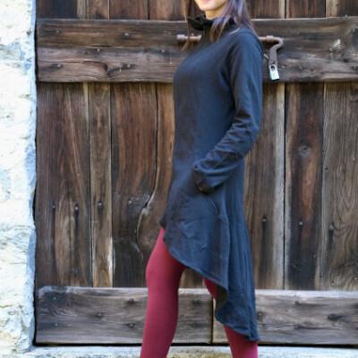 cappottino felpa cotone nero lato def