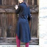 cappottino felpa cotone nero retro def