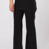 Pantaloni con Gonnellina in Bambù Nero-1