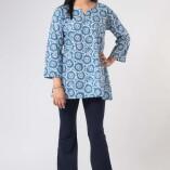 Camicia Lunga Simple Cotone Bio Tintura Vegetale-1
