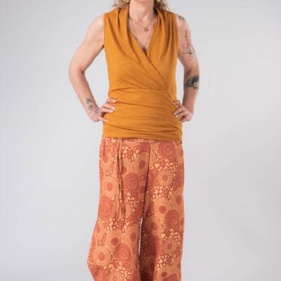 Canotta Incrocio Bambù arancio chiaro-1