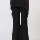 Pantaloni con Gonnellina in Bambù Nero-2