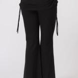 Pantaloni con Gonnellina in Bambù Nero-3