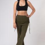 Pantaloni con Gonnellina in Bambù Verde Militare-2