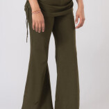 Pantaloni con Gonnellina in Bambù Verde Militare-3
