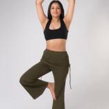 Pantaloni con Gonnellina in Bambù Verde Militare-4