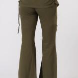 Pantaloni con Gonnellina in Bambù Verde Militare-5