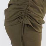 Pantaloni con Gonnellina in Bambù Verde Militare-6