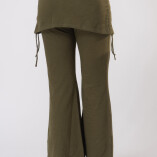 Pantaloni con Gonnellina in Bambù Verde Militare-7