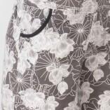 Short Cotone Bio Tintura Vegetale Black&White Lotus Print-5