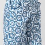 Short Cotone Bio Tintura Vegetale Mandala Blu Print-2