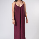 Vestito Lungo Hemp Bambù Bordeaux-2